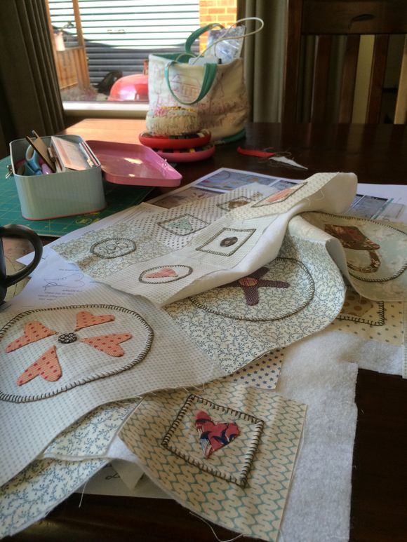 Stitching in a happy place